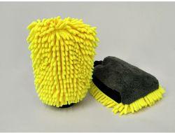 Weicher Chenille-Auto-Wäsche-Handschuh, Doppelt-Seite Handschuh