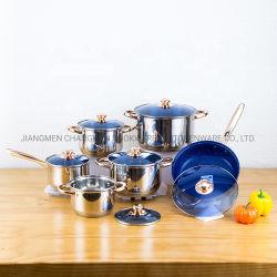 Heet In het groot Nonstick Keukengerei 12 het Roestvrij staal Cookware van PCs in Voorraad