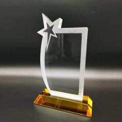 Nouveau Crystal pentagramme Trophy Awards Base orange
