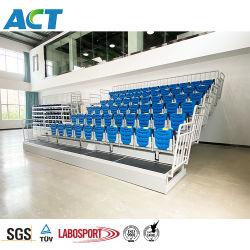 Solution de sièges escamotable télescopique pour une utilisation intérieure, salle de gym sièges Bleacher portable