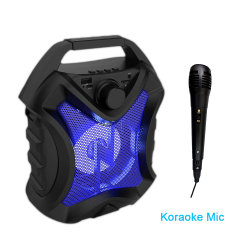 Beweglicher AudioBluetooth Lautsprecher mit Radiou Platte-Zusatz Resonanzkörper drahtlosem beweglichem Bluetooth Lautsprecher Karaokemic-FM für Handy-Lautsprecher
