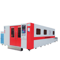 Lamine di metallo che tagliano la Tabella di scambio di macchina della taglierina del laser della fibra 6000W per il laser della fibra del acciaio al carbonio o dell'acciaio inossidabile