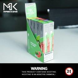 2020 nuevo estilo a granel Maskking ODM Precio Disposale Vape cigarrillo electrónico Pen con 300 inhalaciones