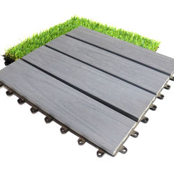 300*300 decorativos Co-Extrusion bloqueo anti-UV resistente al agua WPC Mosaico compuesto