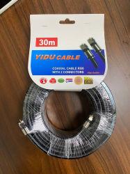 0.7mmccs, 4.8mmfpe, 32*0.12mmalmg, Außendurchmesser: 6.6mm schwarzes Belüftung-Koaxialkabel RG6