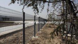 أنظمة الأمان المتطورة PE أحادية الفولاذ الملحوم ذات مغلفنة مؤقتة 3D 3V منحنية موحنية سلك واحد نيش الجدار حديقة الدراق بوست