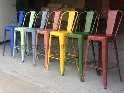 (SP-MC041) Bar comedor Muebles Taburete con respaldo alto Restaurante silla de metal Industrial Taburetes para la venta