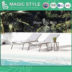 Mobilia cinese di Sunbed di progetto dell'hotel del salotto della tessile del Chaise del salotto del giardino dell'imbracatura di Sunlounge del Daybed esterno del Poolside