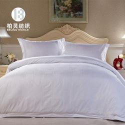 Hotel de luxo Lençois 60s Jacquard Branco Design Hotel Cama com edredão cobrir 100% algodão Cama Queen Size Conjunto de folhas
