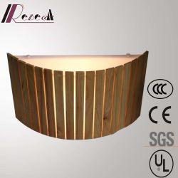 Современный ресторан декоративных природных деревянной Semicricle настенный светильник