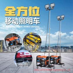 Портативный светодиодный индикатор в чрезвычайных ситуациях и галогенные лампы с приводом от бензинового двигателя