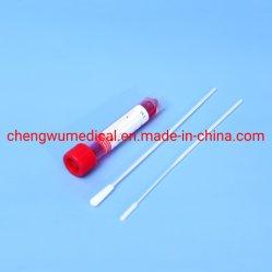 Tampone di campionamento per cellule di DNA mediche cellule di cavità oronasali della gola Tampone in nylon floccato per la raccolta dei campioni