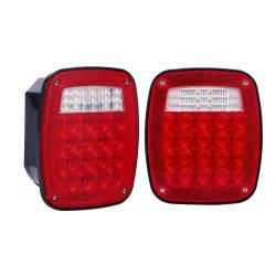 핫 셀 24V 범용 LED 트럭 트레일러 스톱 리어 브레이크 후진 방향 지시등 테일 DRL 라이트