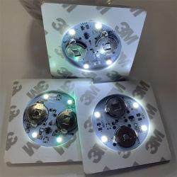 مفتاح مربع مخصص Mini 3 م البطارية وميض فلاش كوب ليلي ملصق مصباح زجاجة LED ملصق مصباح الزجاجات