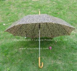 Het Af:drukken van de luipaard Dame Umbrella Auto Open (oct-GH019)