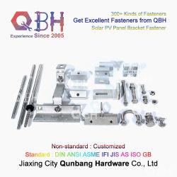 QBH OEM ODM Hot-Selling Standard & Customized Allzweck-PV-Photovoltaik Halterung Blechdach Aluminiumlegierung Solar Halterung Gebäudekonstruktion Hardware