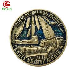 中国の製造業者の注文の金属の技術 3D ロゴの軍隊の挑戦硬貨 レーザーマーキング名タグの記念品コインを尊重します