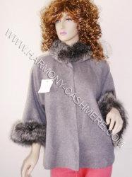 Cashmere Cardigan con Silver Fox (HM-YZ-SWF09003)