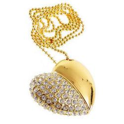 Crystal Heart bijoux en or de la mémoire flash USB 2.0