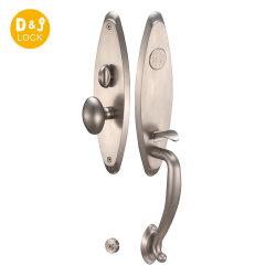 Serratura di portello meccanica d'ottone forgiata solida durevole di Handleset dell'entrata di tasti di Handleset