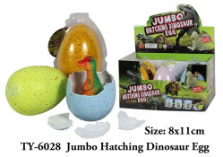 Jumbo magico di sorpresa che cresce covante i giocattoli della novità dell'uovo di dinosauro