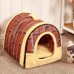 暖かい犬小屋の犬小屋のネストマットペット製品が付いているFoldable犬のベッド