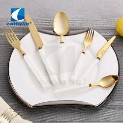 Hoogwaardige Producten Keramische Handgreep Gold Plating Metalen Bijtring Set