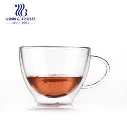 10oz двойные стенки боросиликатного стекла чашку эспрессо, кофе чашку