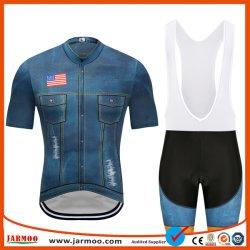 Vêtements de Cyclisme de sublimation personnalisé Womens 100 % polyester Tissu Lycra jerseys pour le cyclisme