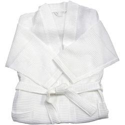 Badjassen van de Kraag van de Kimono van de Kleur van de Vrouwen en van de Mannen van de luxe de In het groot Witte
