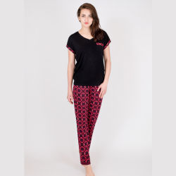 Frauen dickflüssig/modaler gedruckter Dame-Pyjama