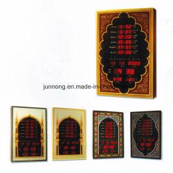 Azan musulmane numérique DEL Alarme-347une horloge murale JDL