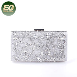 Frizione femminile Eb1003 di modo del diamante del quadrato del sacchetto del pranzo del Rhinestone