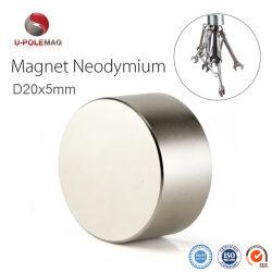 Haute qualité N35 D20*5mm disque magnétique en néodyme