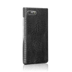 El lujo de Cocodrilo Mate Monedero Slim Funda de Cuero para Blackberry Key 2