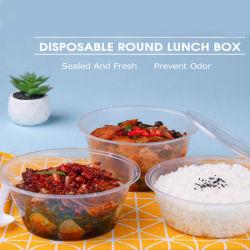 マイクロウェーブ安全なテークアウトの使い捨て可能な食糧容器の記憶のプラスチックふたが付いている円形の熱いスープボウル