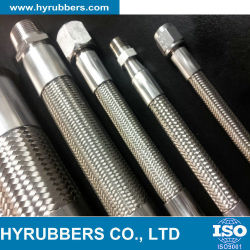 Mangueira de borracha hidráulico/SAE 100R14/flexíveis resistentes Termperatrure elevado de PTFE