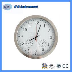 12インチの気象台の温度計および湿度計の円形のクロック