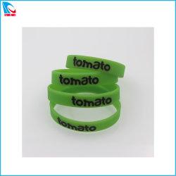 Il marchio inciso braccialetto del silicone di Debossed personalizza la fascia di Wirst