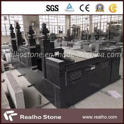 La Chine gris/rouge/marron Monuments/pierre tombale de granit noir/pierre tombale/pierre tombale