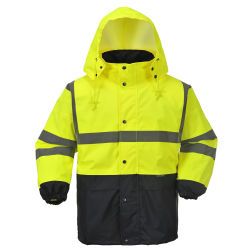 Workwear di sicurezza di Oxford dell'aggraffatura sigillato nastro riflettente superiore dell'OEM 3m