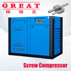 Fabbricazione principale per (5.5kw-630kw) il compressore d'aria gemellare rotativo industriale iniettato olio silenzioso stazionario della vite della barra 7bar/8bar/10bar/13 con l'iso di Ce&