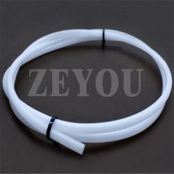 100% virgen blanca de plástico de PTFE Tubo Flexible de extrusión