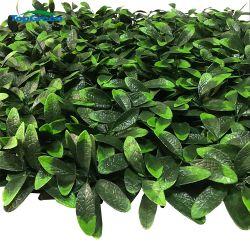 Parete verde verticale della pianta del fiore artificiale della parete per la decorazione del giardino