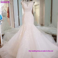 Schutzkappen-Hülsen-Nixe-Hochzeits-Kleid-Trompete-Braut-Kleid