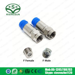 COAXIAL Cable RG6 58 Rg59 Rg11 F Male Compression Connector