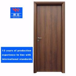 Porta antincendio di legno Rated della porta antincendio di legno solido a prova di fuoco interno del portello singolo