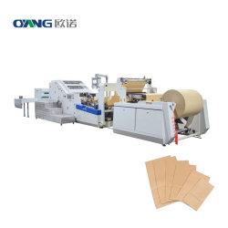 Quadratischer Boden Papier Einkaufstasche Maschine für KFC schnell Papierbeutel Für Lebensmittel/Brot