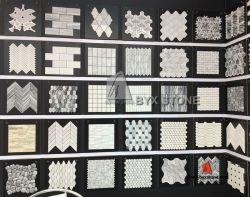 Marmorsteinmosaik für Wand-/Wasser-Medaillon-Fußboden-Fliese-Dekoration