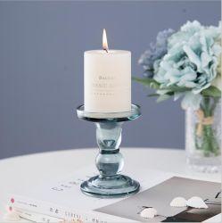 웨딩 테이블 장식용 크리스탈 유리 캔들 홀더 로맨틱한 캔들 홀더